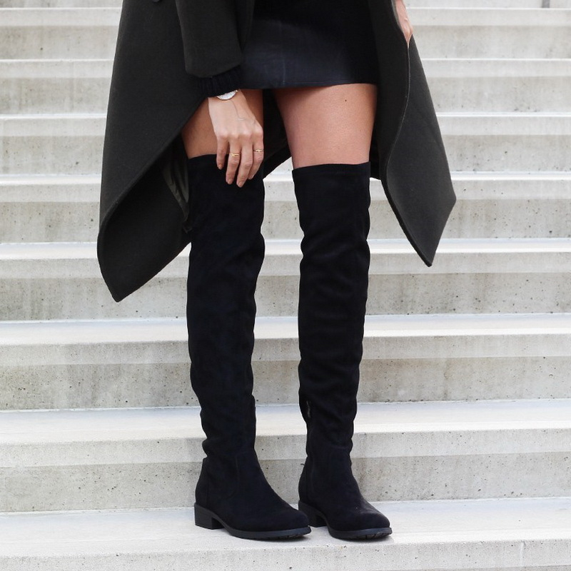 78d272428e60 Over The Knee High Flat Boots